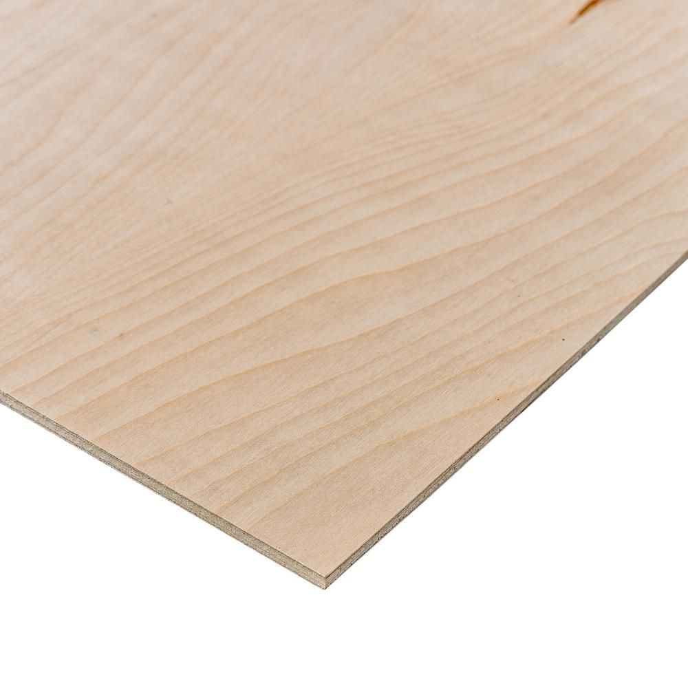 Birch Plywood Common 1 4 In X 2 Ft X 4 Ft Actual 0 195 In X 23 75 In X 47 75 In 154146 The Home Depot Birch Plywood Hardwood Plywood Plywood