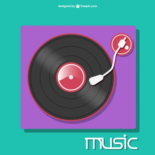 Colorfull recordplayer vector Dj music mixer, Music