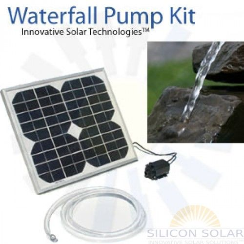 Decorate Your Pond With A Waterfall By Using The 12v Solar Waterfall Solar Fountain Solar Water Pump Solar Water Fountain