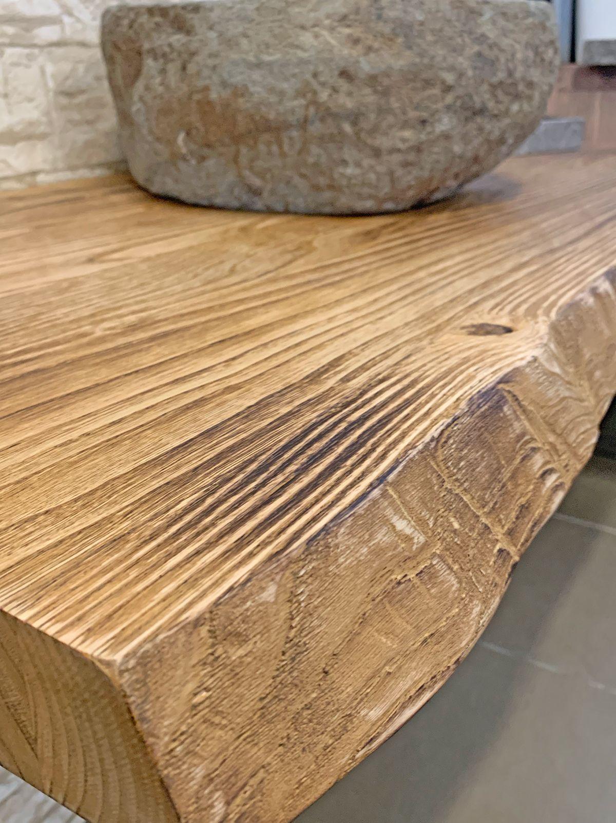 Piano Per Lavabo Da Appoggio mensola legno grezzo per lavabo