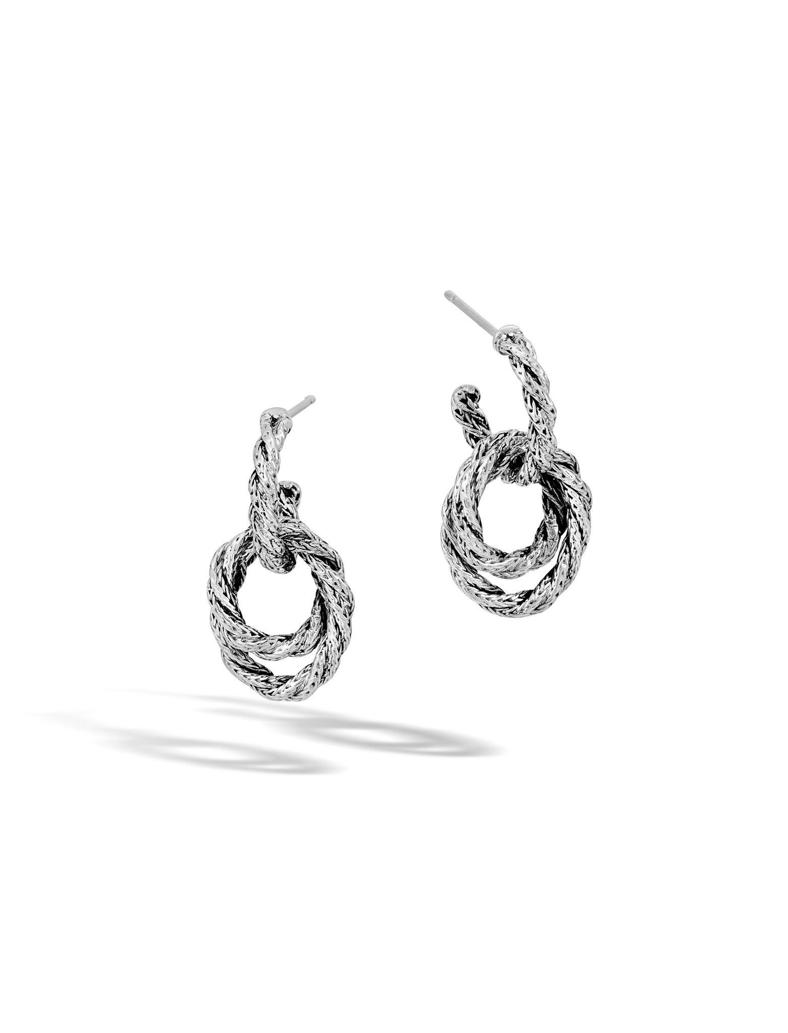 John Hardy Classic Chain Small Double-Hoop Earrings