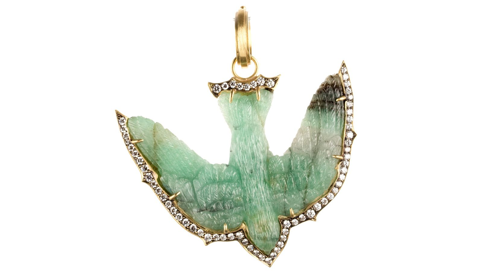 Sylve Cies Hand Carved Jade Swallow Pendant Is A Symbol Of Love