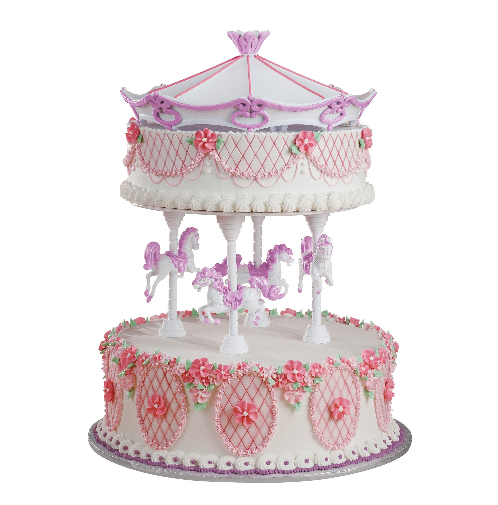 Amazon.com: Wilton Carousel Cake Set: Food Decorating Tools: Kitchen ...