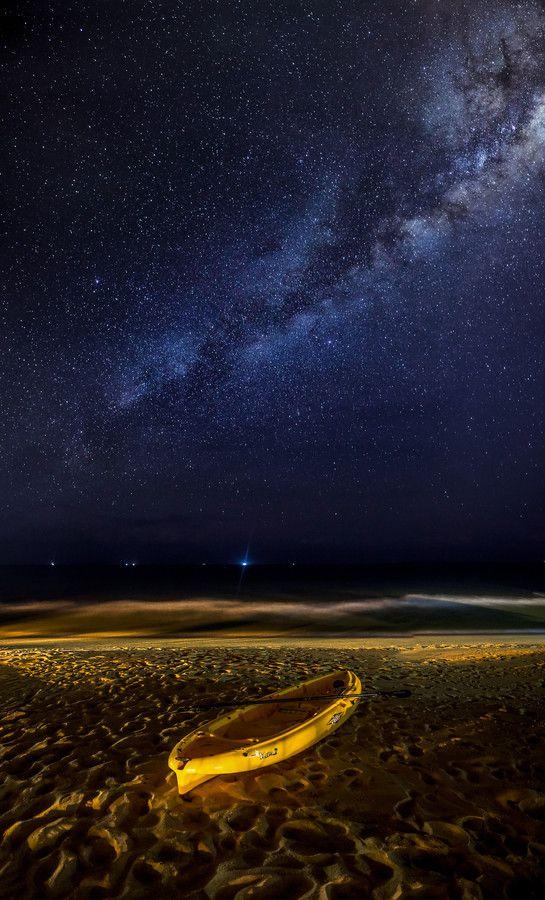A view of a clear night sky full of stars and milky way at Tanjung Jara Resort, Terengganu. thk:::::::::::Malaysia