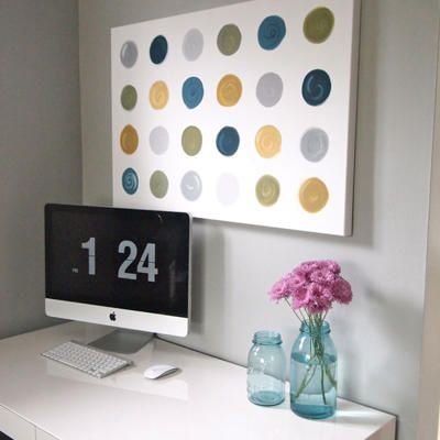DIY Canvas Art via Cape 27