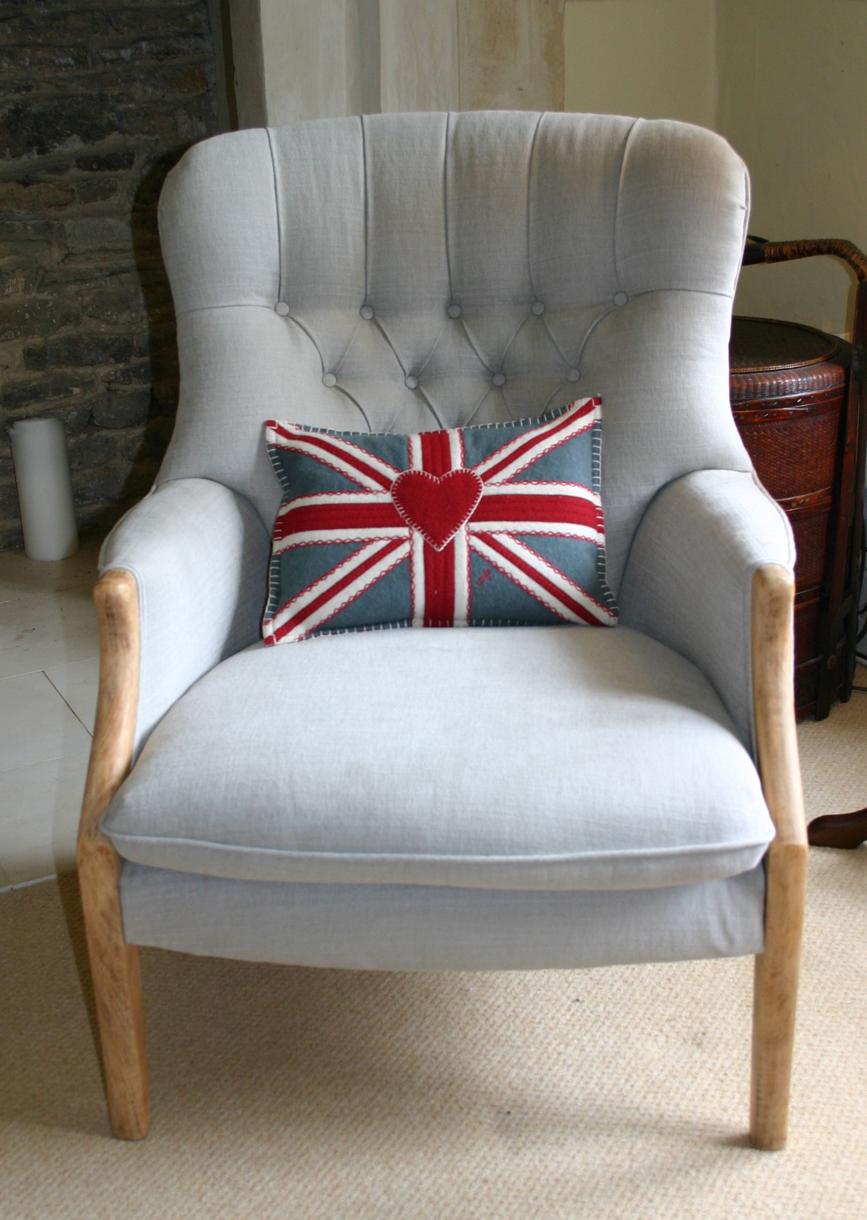 Superbe A Button Back Parker Knoll Chair Reupholstered In Romo Linara Fabric.