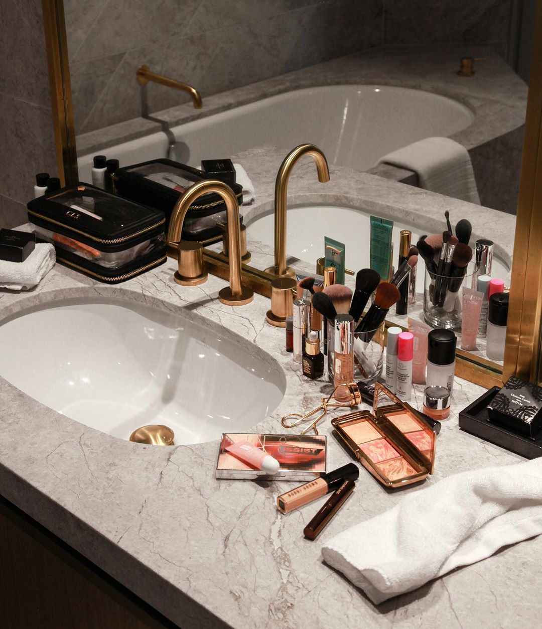 "CARISSA SMART on Instagram: ""Bathroom goals at @fssydney including all the makeup and skincare essentials for any beauty addict!� (I've reposted all my travel…"""