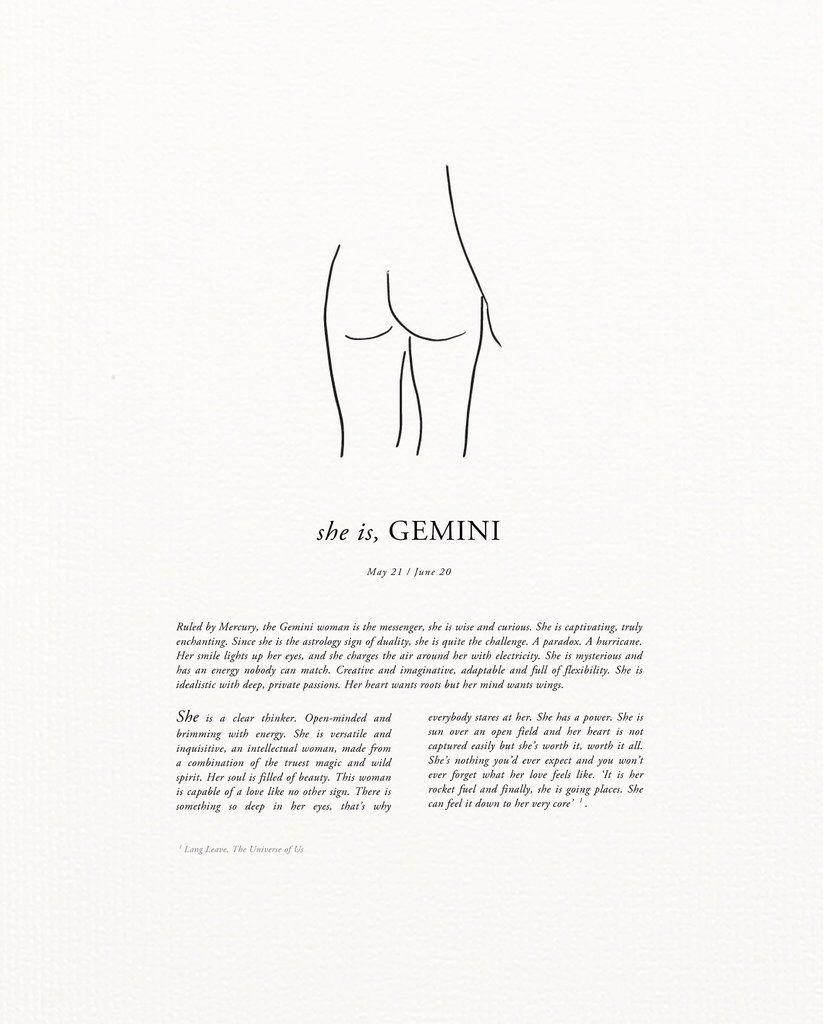 Sunday Lane Gemini Print – Call Me The Breeze