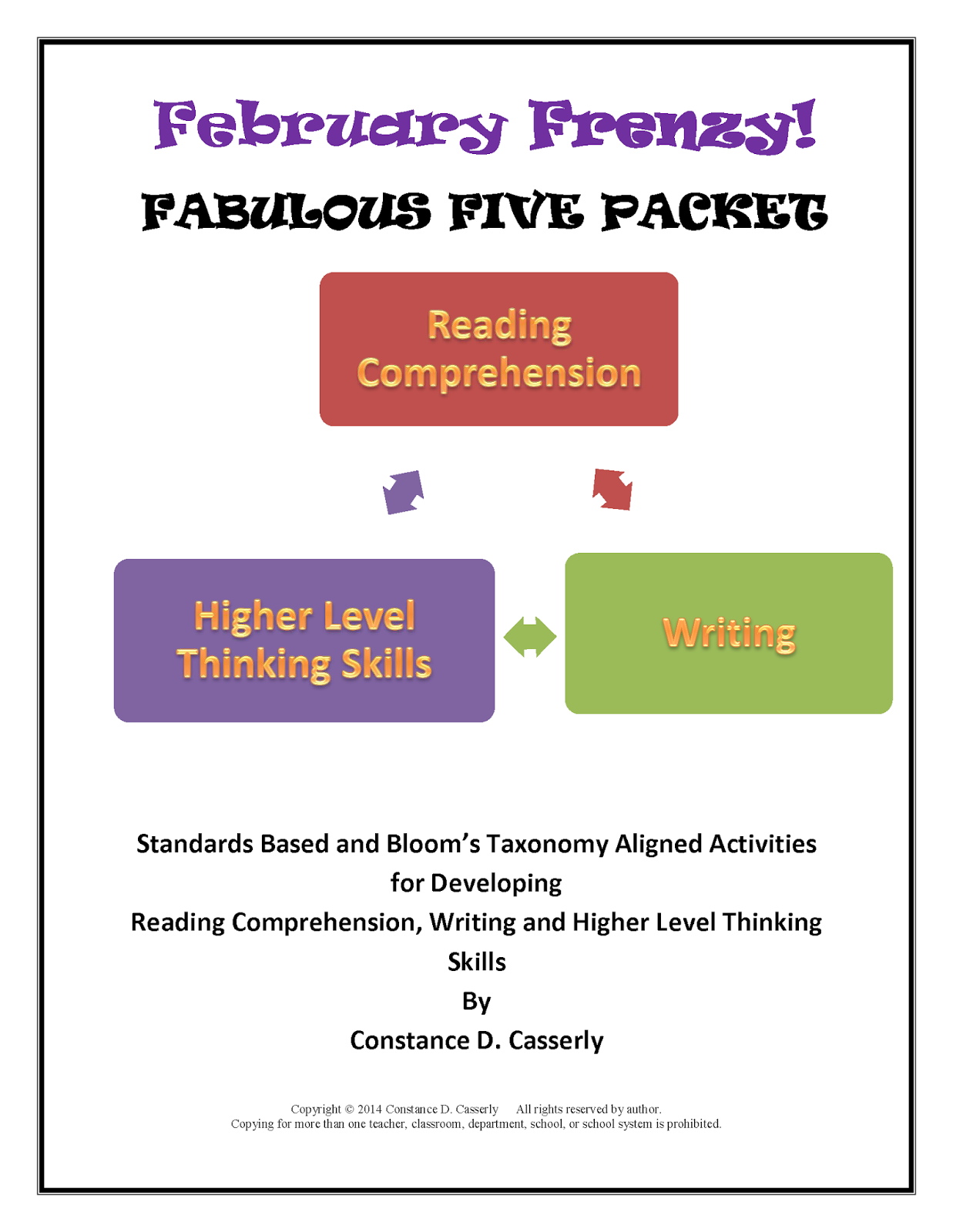 Writing, Grammar & Vocabulary Products Reading
