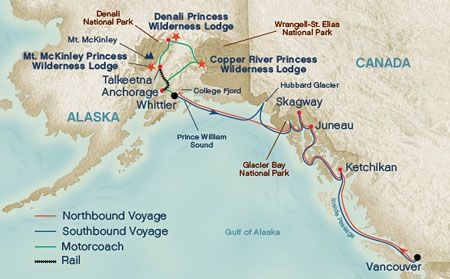 Alaska Cruise map | Favorite Places & Spaces | Alaska cruise, Alaska ...
