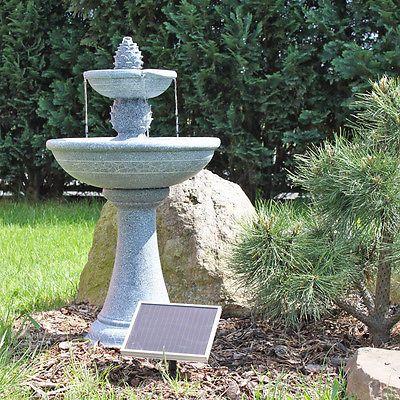 Solar Springbrunnen Garten Brunnen Gartenbrunnen Gartenspringbrunnen Wasserspiel Springbrunnen Solarbrunnen Springbrunnen Garten