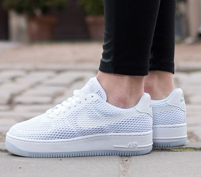 more photos a2450 23008 Nike Air Force 1 AF1 Low Upstep BR White Sneakers Shoes