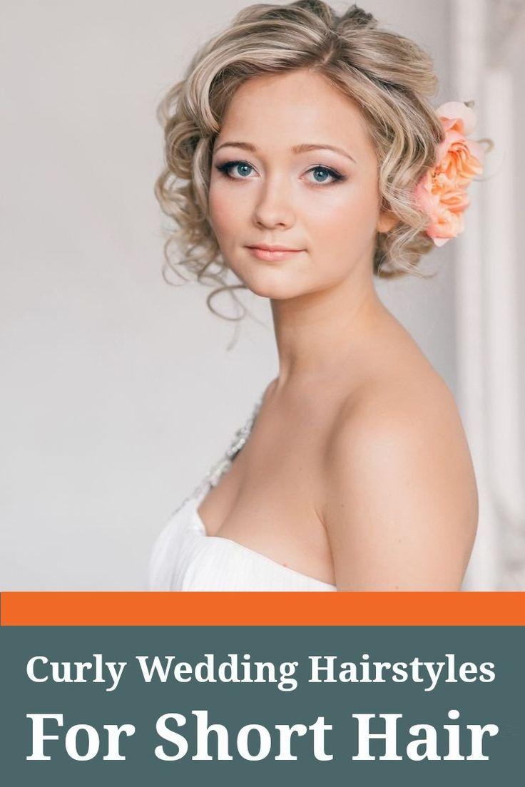 curly wedding hairstyles for short hair | elegant wedding