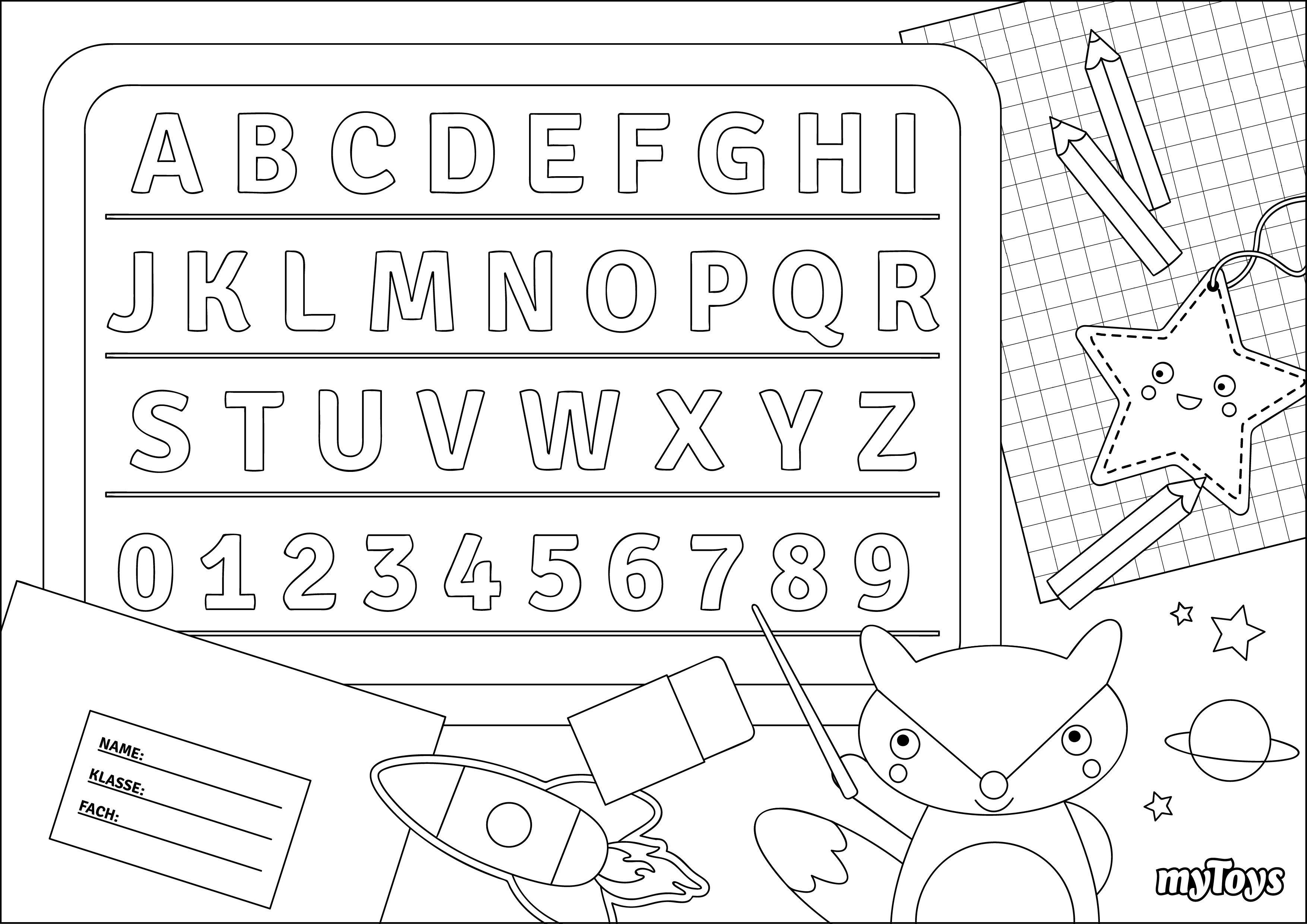 Apprendre Les Lettres De L Alphabet Coloriage Malvorlagen Fur Kinder Malvorlagen Das Alphabet Lernen