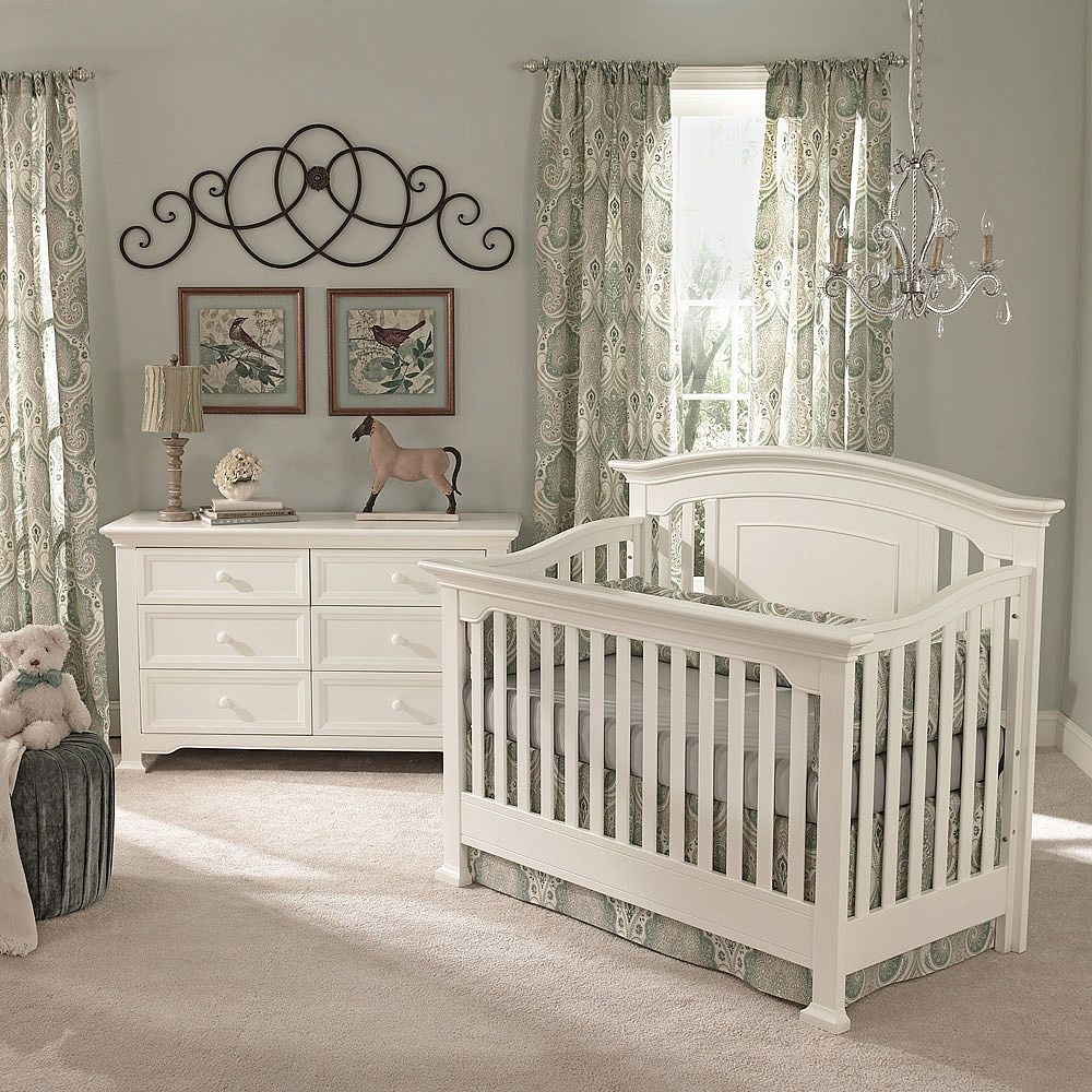 Baby cribs with matching dresser - Baby Cach Windsor Lifetime Crib White Baby Cache Babies R Us