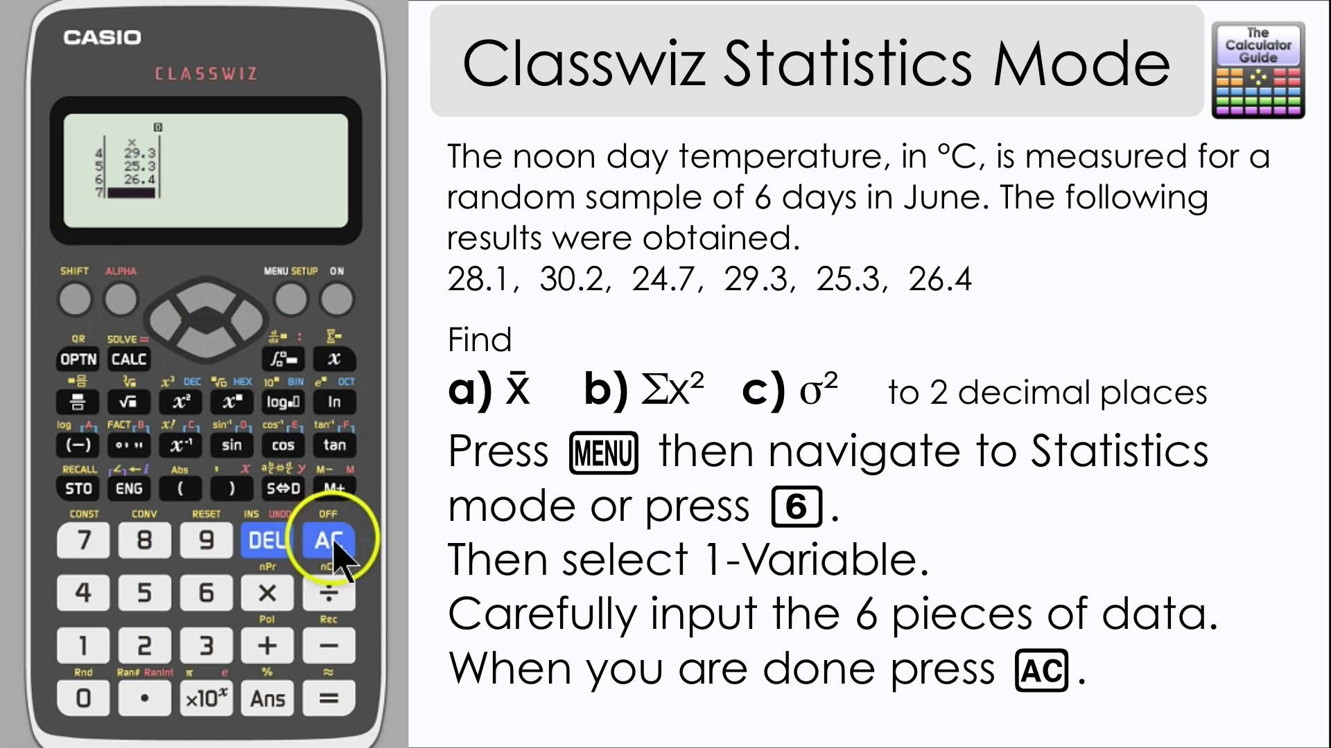 Casio classwiz statistics mode find mean variance and other casio classwiz statistics mode find mean variance and other informati biocorpaavc Gallery