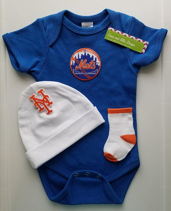 6f36e49bdcc New York Mets baby outfit ny mets baby gift  new york mets baby shower