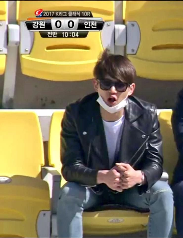 170507  Minho and his Minseok hyung went to see their dad's team play aww supportive sons