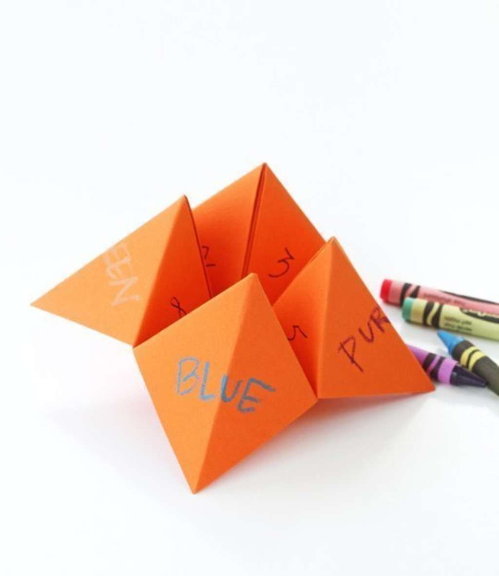How To Make An Origami Fortune Teller Origami Fortune Teller Fortune Teller Paper Fortune Teller