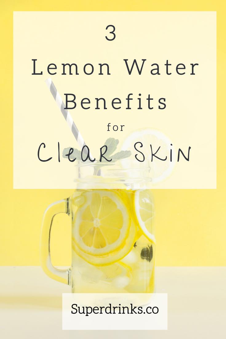 Lemon Water Benefits For Brighter Skin Lemon Water Recipe Lemon Water Diet Lemon Water