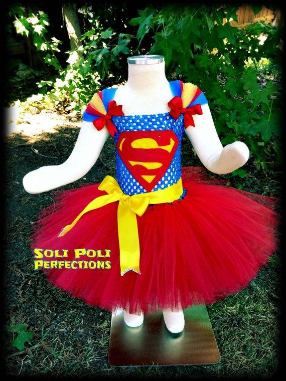 SuperGirl Costume, Red Tutu, Super Girl Tutu, Superman Tutu ...
