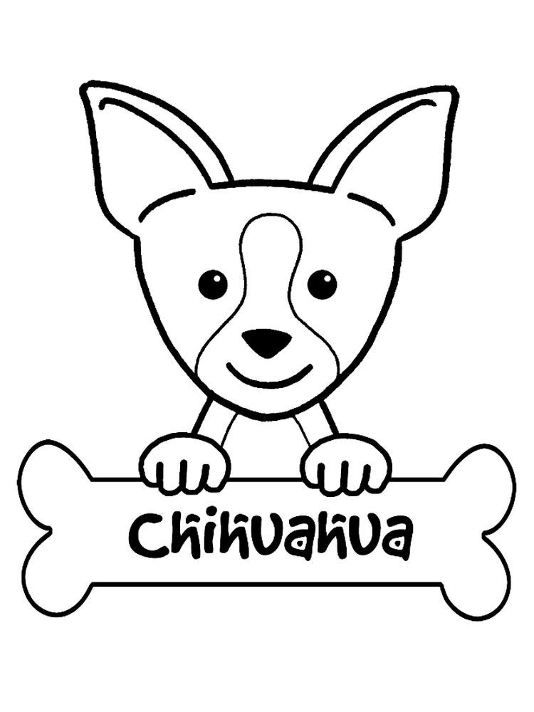 Long Haired Chihuahua Coloring Pages Chihuahua Is Dog Smallest Breed It Is Named Originally From A Puppy Coloring Pages Animal Coloring Pages Coloring Pages