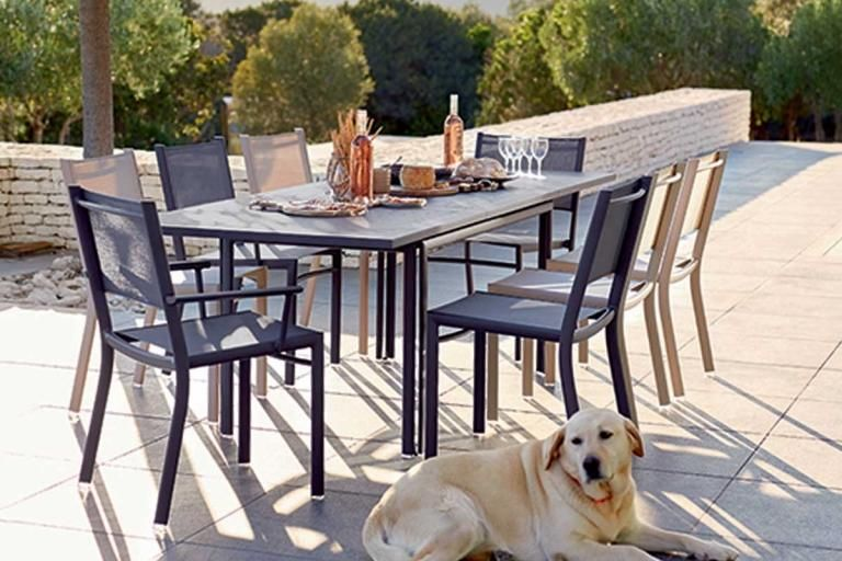 Costa Extending Outdoor Table And Chairs From French Outdoor Brand Fermob Available In All 24 Fermob Colours