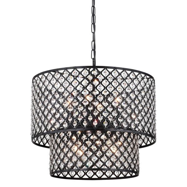Multicolored Metal 2 Tier Drum Chandelier