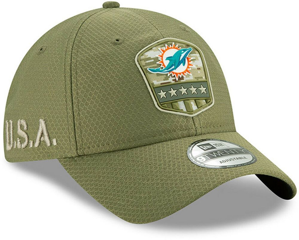 Miami dolphins new era 920 nfl on field 2019 salute to