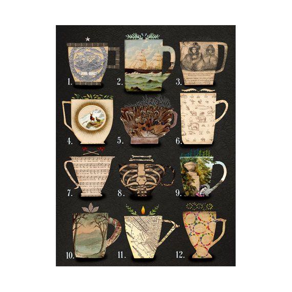 large art print coffee and tea coffee and tea by susanfarrington
