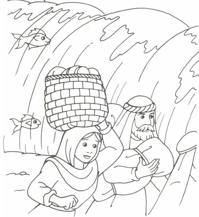 The Hebrews walking through the sea (Exodus 14) | Moses | Pinterest ...