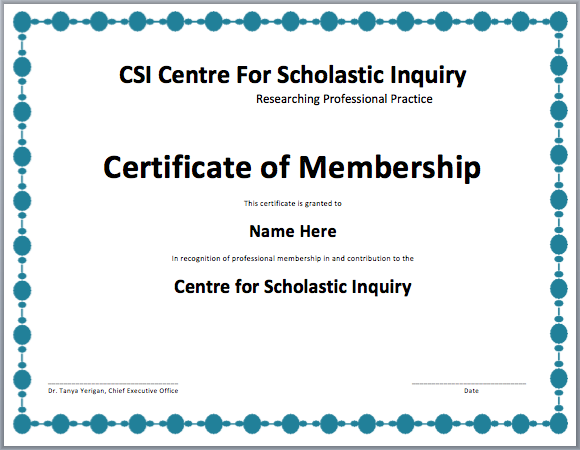 10 Membership Certificate Templates Free Printable Word Pdf