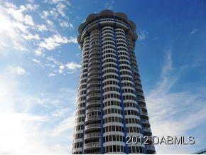 Peck Plaza Daytona Beach Condo Circular Building For Great Views With Restaurant On Top Floor