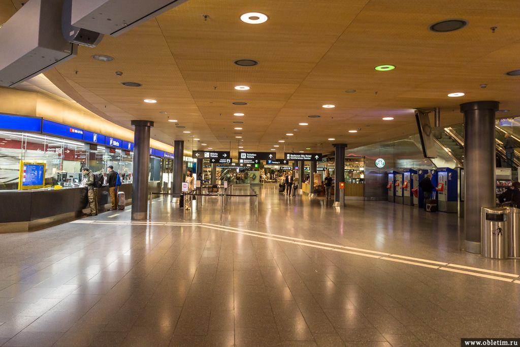 Из аэропорта Цюриха в центр фото