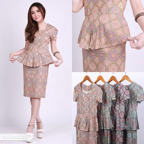 Neszluna Ethnic Peplum Mini Dress | Sale Stock Indonesia
