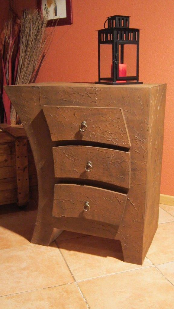 Meuble En Carton Courbe Tutoriel En Images Cartonrecup Meuble En Carton Rangement Carton Design En Carton