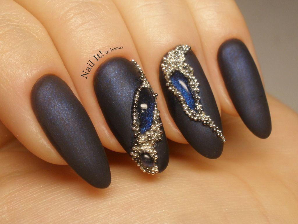 "Jewellery Gemstone Nail Art (with Indigo Nails ""Galactica ..."