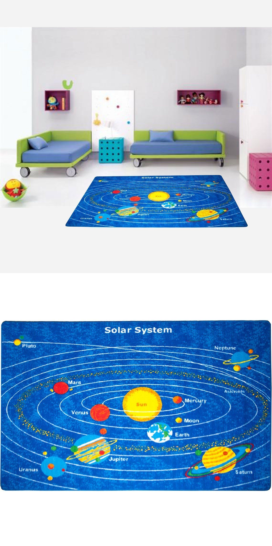 Kids Rugs Solar System Area Rug 5 X 7 Children E Carpet Non Skid