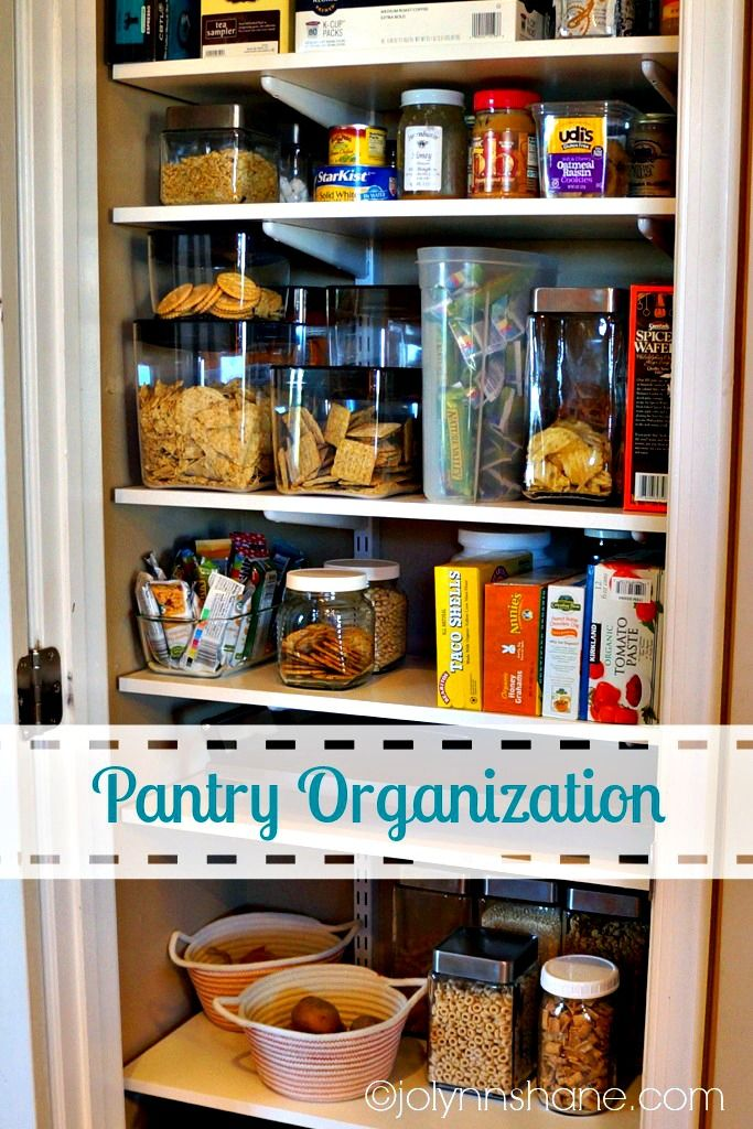 My Pantry Makeover Project #organization #diy