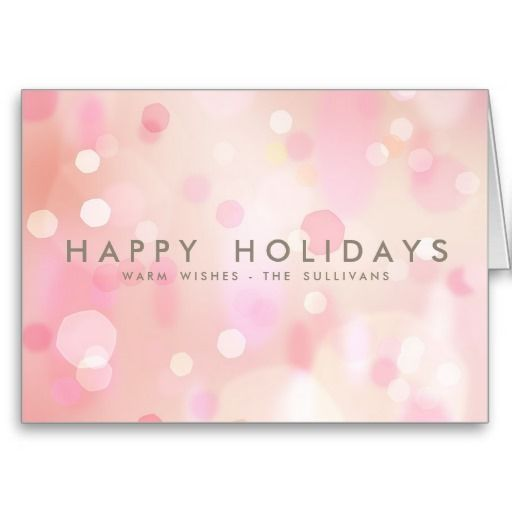 Colorful Pastel Lights Bokeh Happy Holidays Card Zazzle Com