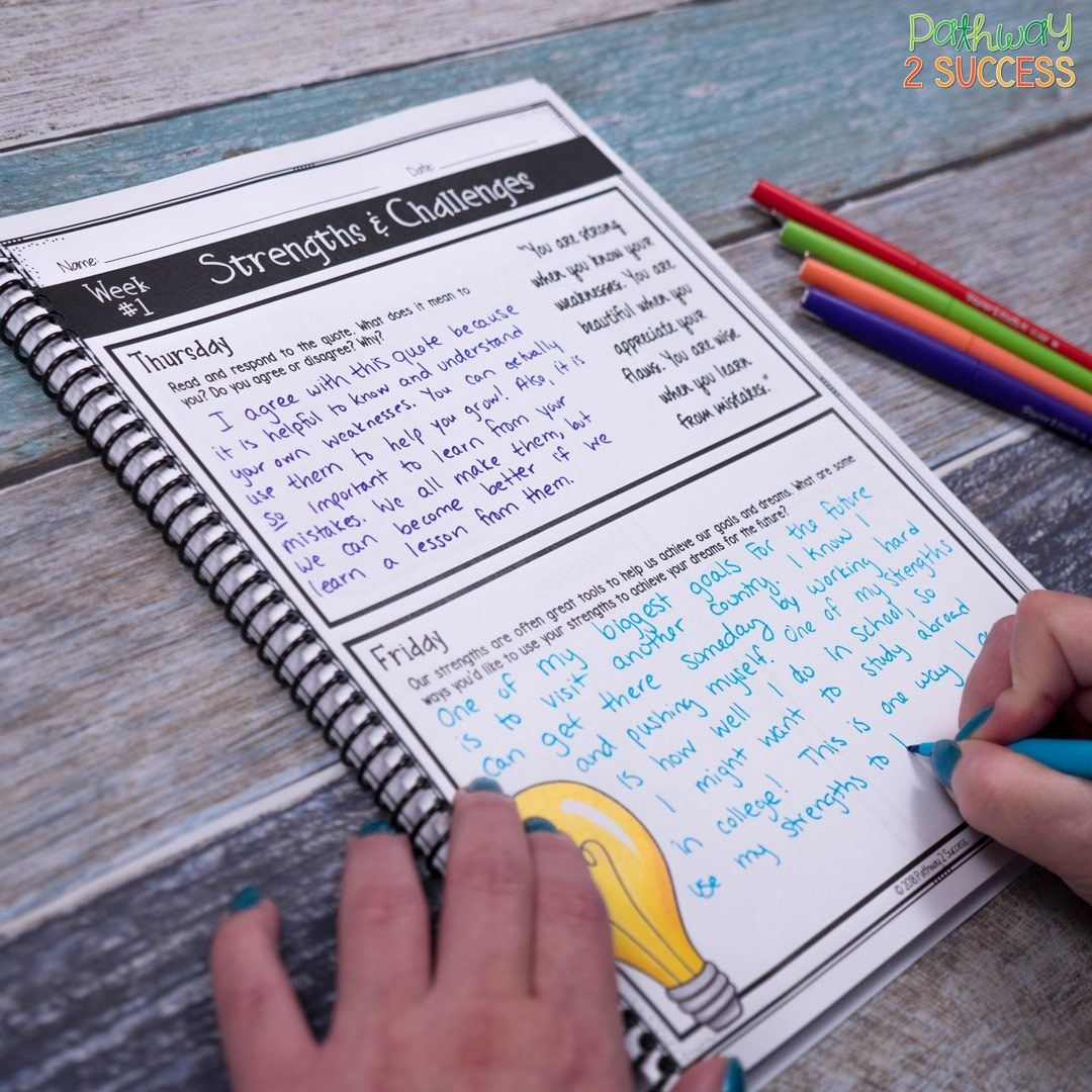 Teaching Social Emotional Skills With A Journal