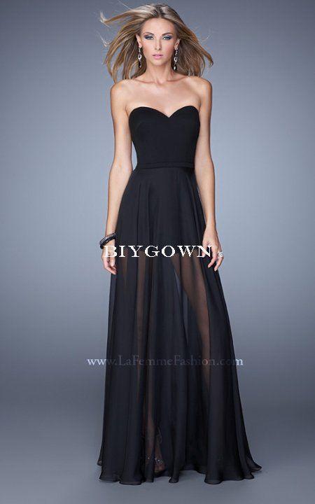 Back Zipper Closure 2016 Black La Femme 21339 Prom Dress