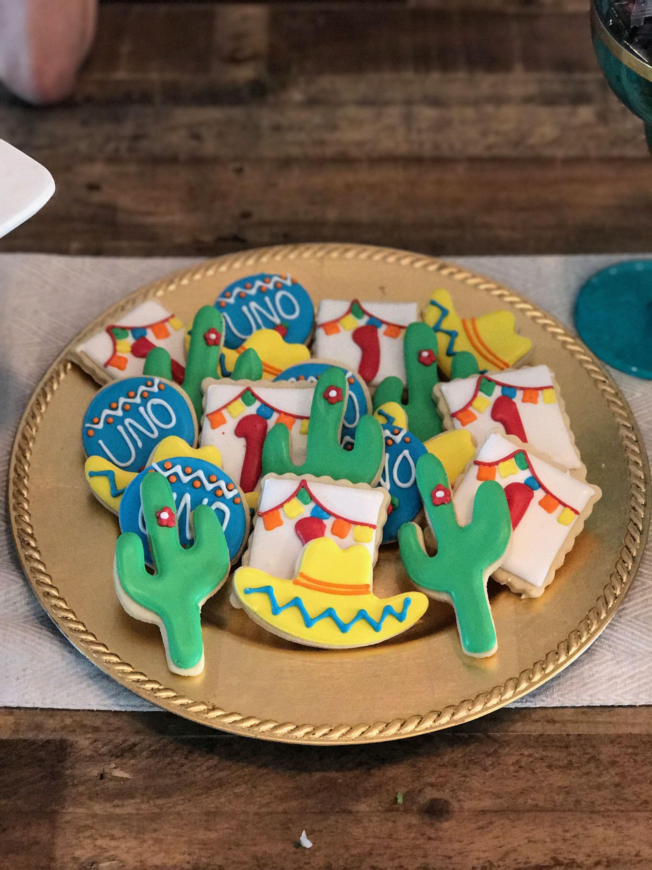 First Birthday Fiesta Cookies