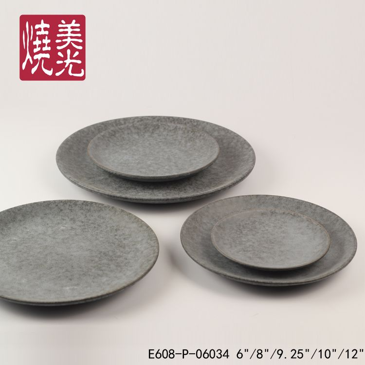 Restaurant And Hotel Ceramic Dinnerware Stoneware Flat Round Dinner Plate E608 P 06034 Size 1 Diamet Stoneware Dinnerware Ceramic Tableware Ceramic Dinnerware