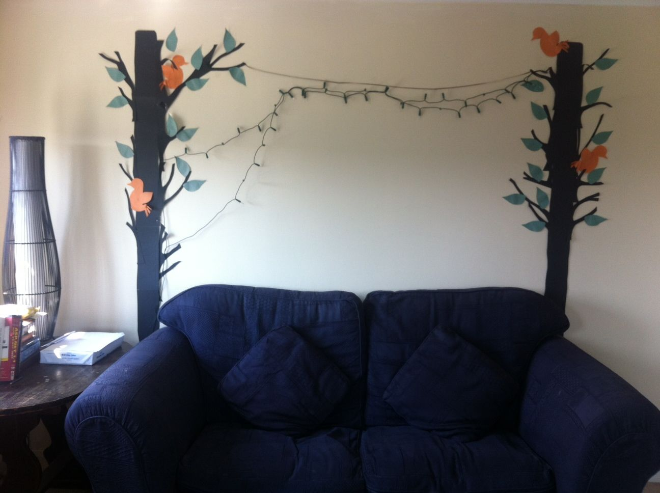 Living room creative and easy decor!