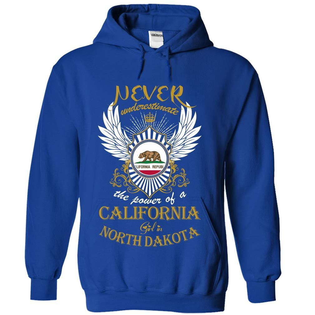 Never Underestimate The Power of a California Girl in North Dakota T-Shirts, Hoodies. CHECK PRICE ==► Funny Tee Shirts