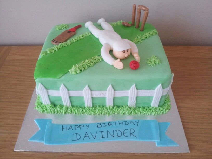 Cricket cake also completely vegan cricket cakes Pinterest