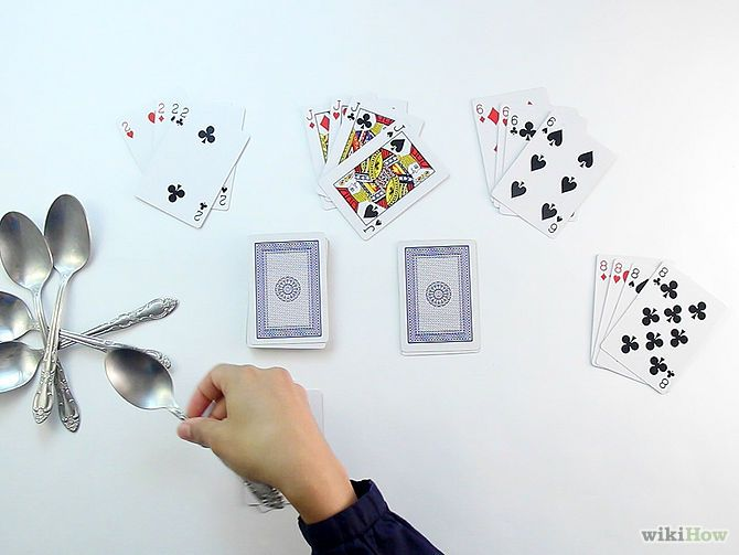 How To Play Spoons Card Game Card Games Classic Card Games How To Play Spoons