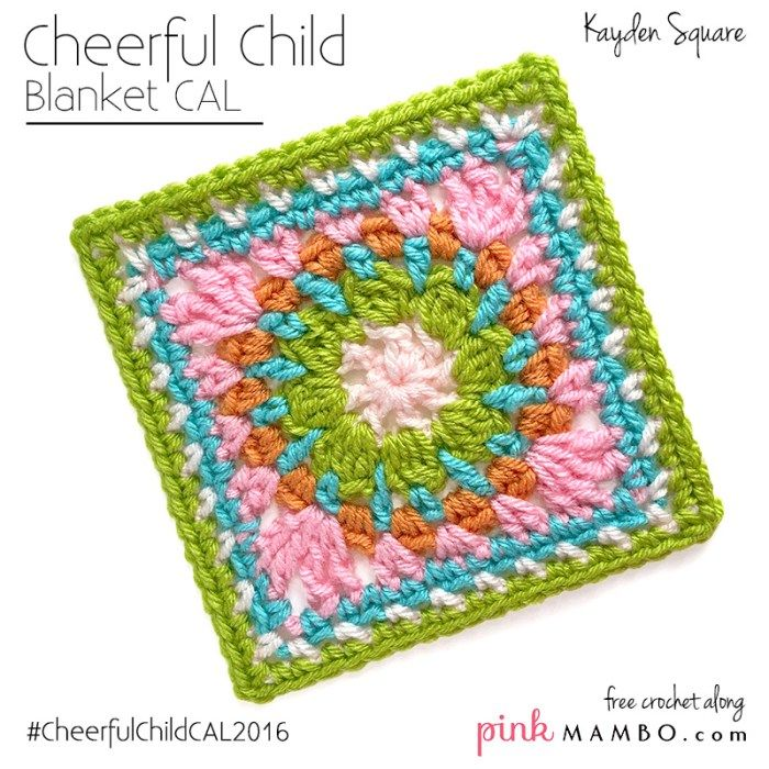 Kayden Afghan Square Free Crochet Pattern from Pink Mambo   crochet ...