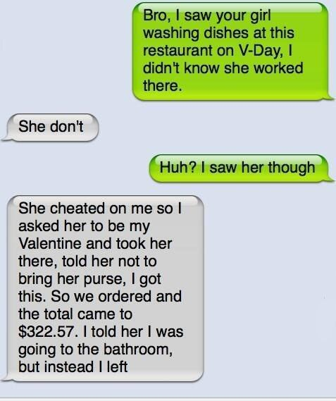 Dealing with cheating girlfriend